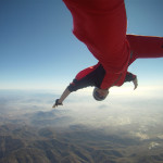 Man Skydiving Banzai Style