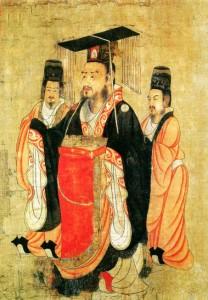 Emperor Chou Courtiers Cheer Banzai