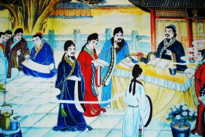 Emperor and Courtiers